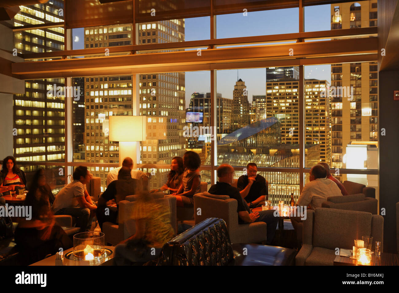 Lovely ROOF, Rooftop Bar And Grill, The Wit Hotel, Chicago, Illinois, USA