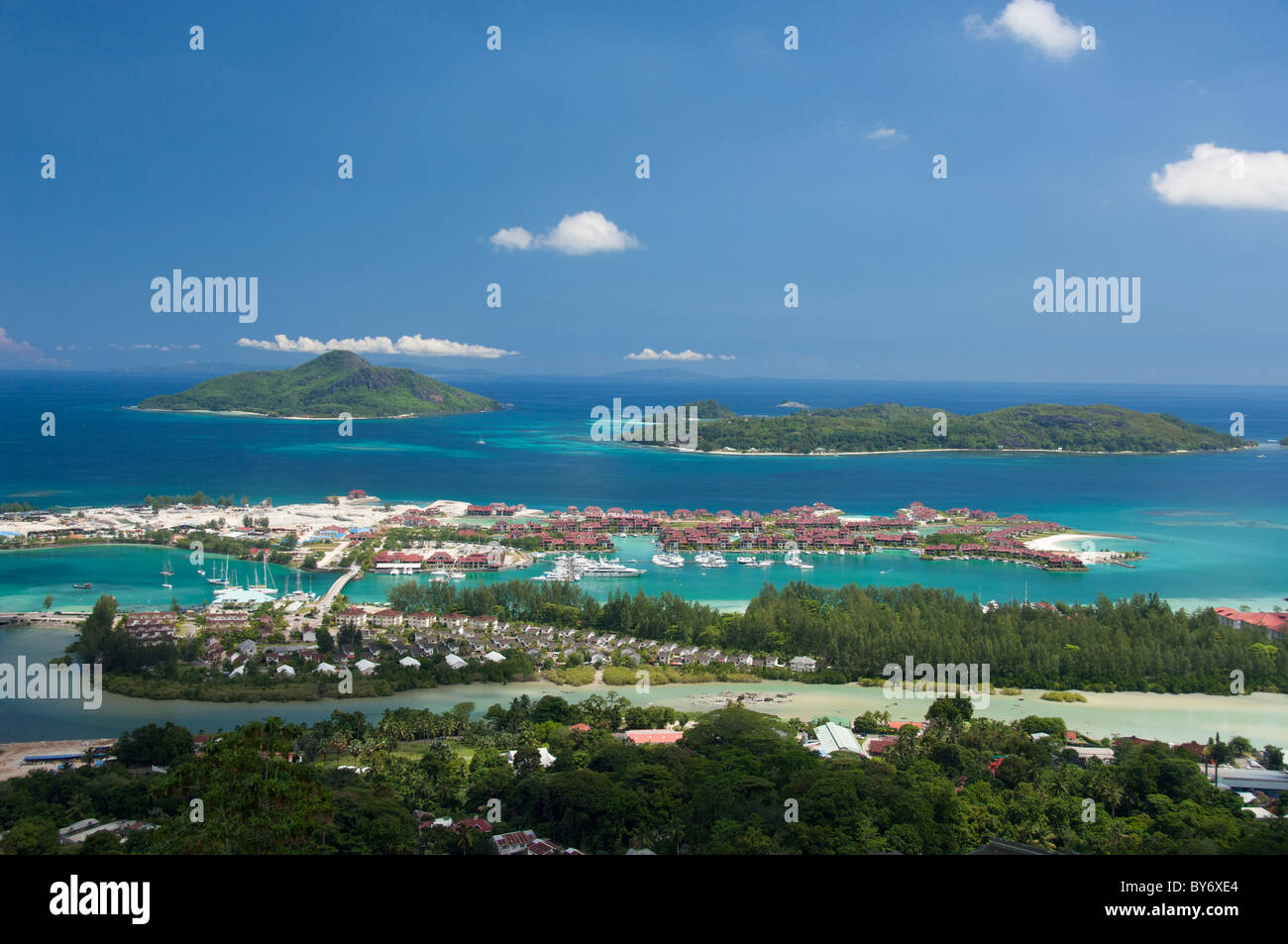 Seychelles island of mahe capital city of victoria eden island stock photo - Eden island hotel seychelles ...
