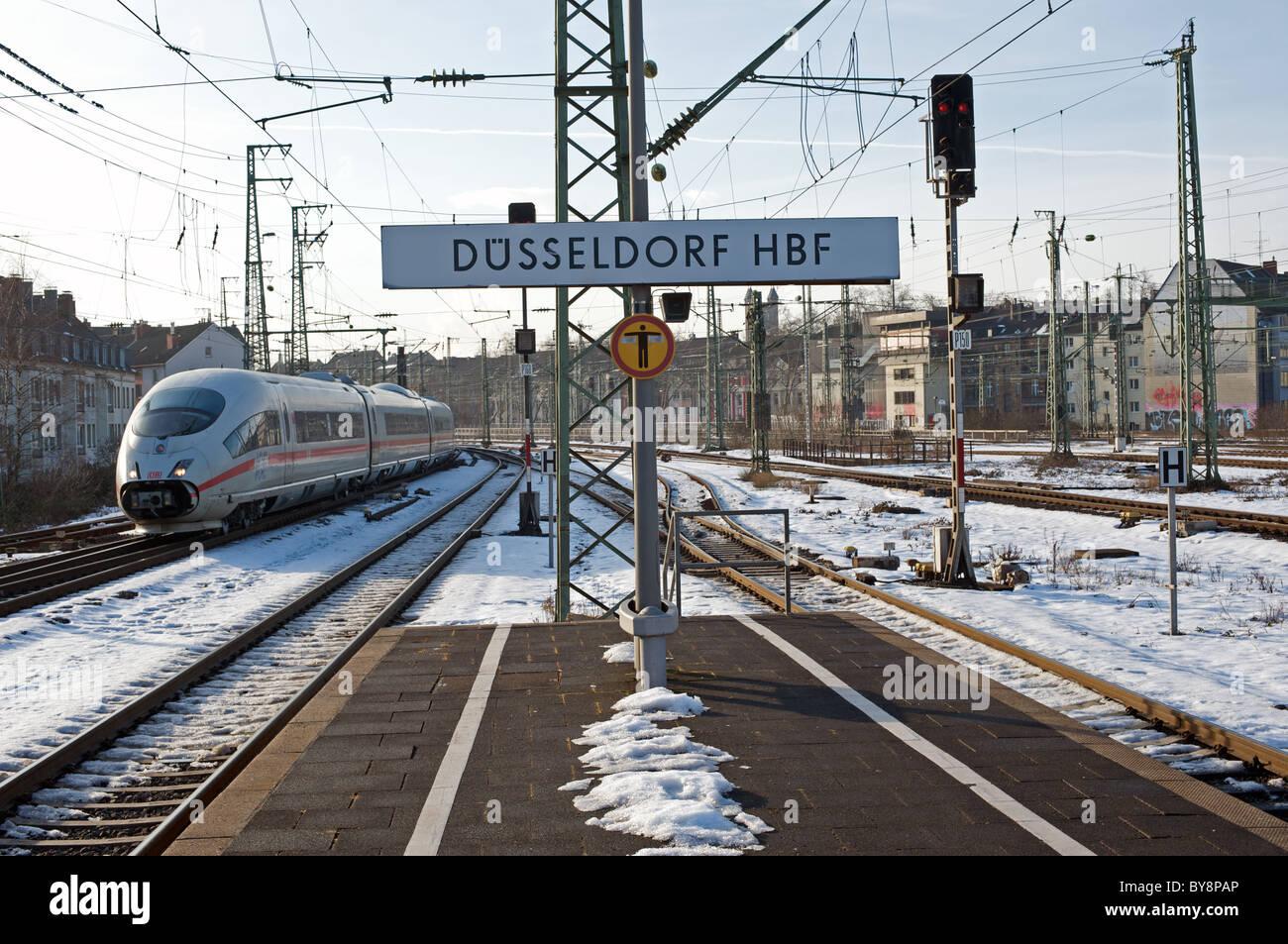 german railways intercity express ice dusseldorf hbf main railway stock photo royalty free. Black Bedroom Furniture Sets. Home Design Ideas