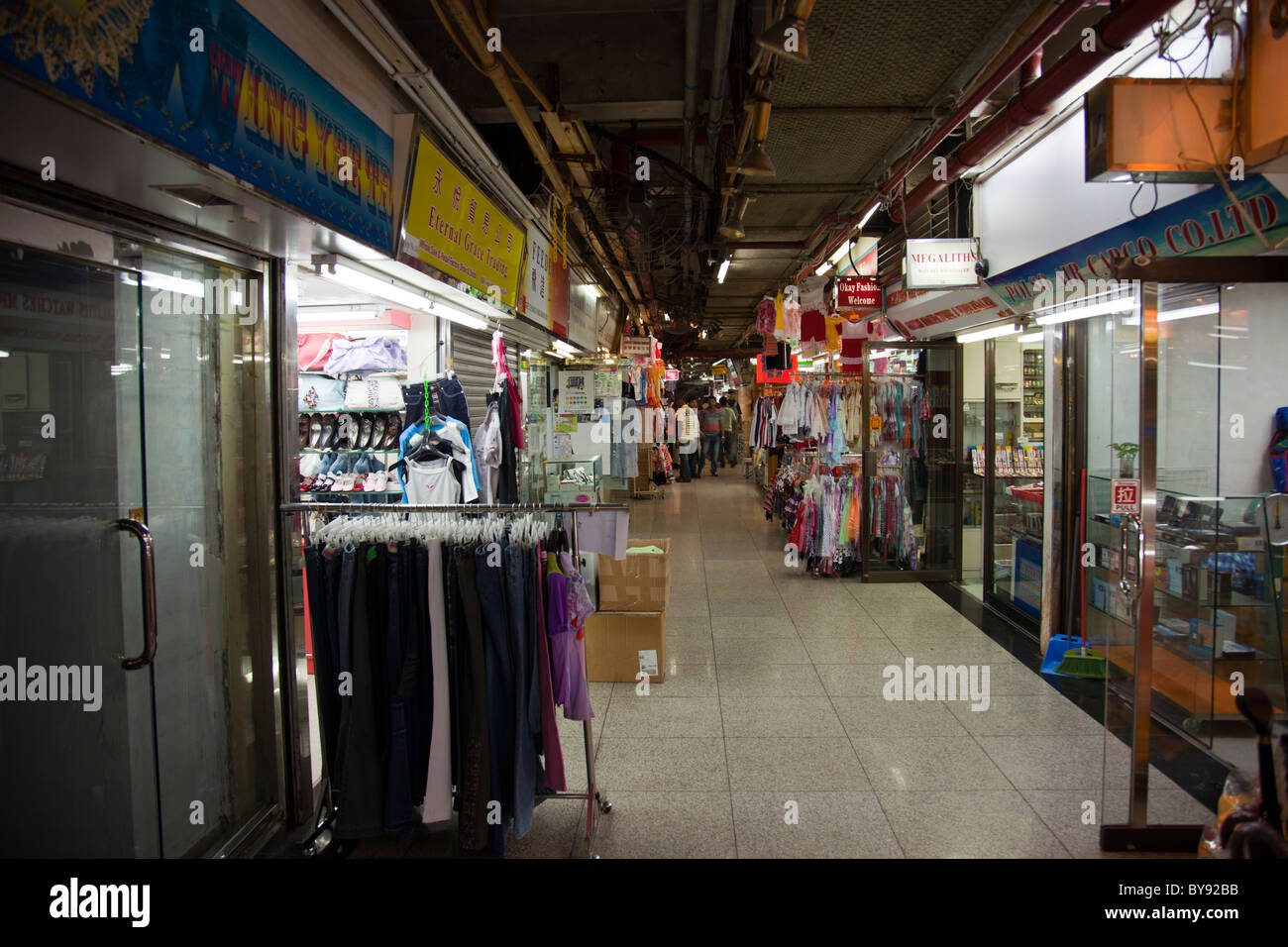 inside the infamous chungking mansions is a building located at stock photo royalty free image. Black Bedroom Furniture Sets. Home Design Ideas