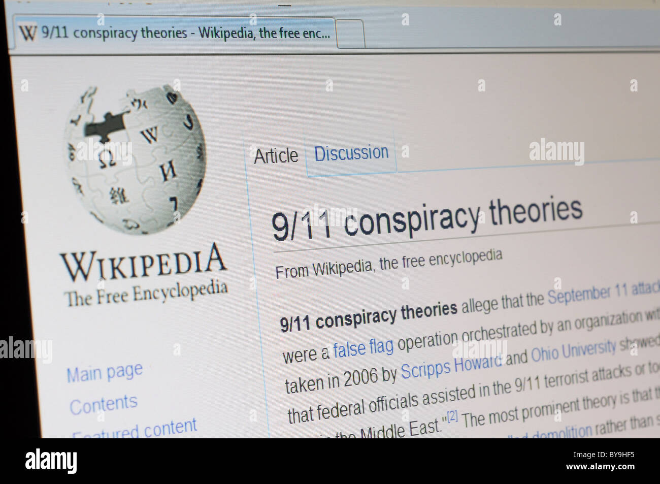 A Wikipedia Search For Conspiracy Theories Stock Photo - Wikipedia royalty free images