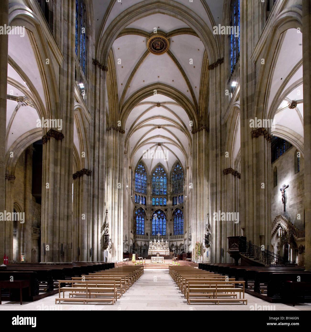 interior regensburg cathedral unesco world heritage site stock photo royalty free image. Black Bedroom Furniture Sets. Home Design Ideas
