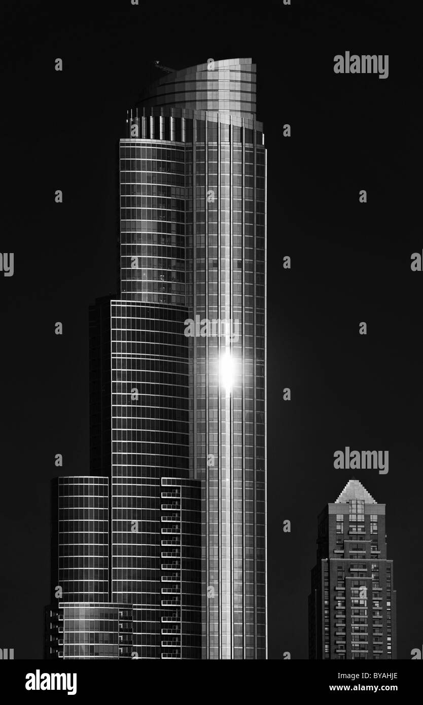 Black White Office Tower Central Park One Museum Park Chicago - Black museums in usa