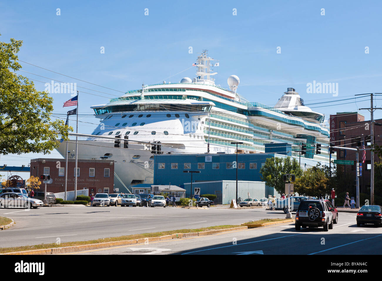 Royal Caribbeans Jewel Of The Seas Cruise Ship In Port At - Portland maine cruise ship terminal