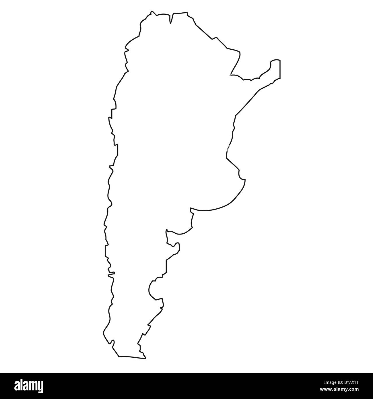 Outline Map Of Argentina Stock Photo Royalty Free Image - Argentina map outline