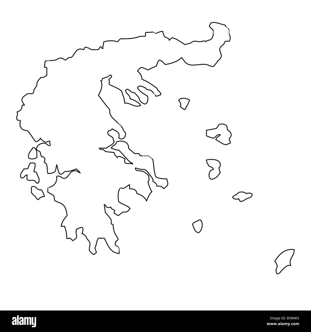 Outline Map Of Greece Stock Photo Royalty Free Image - Outline map of