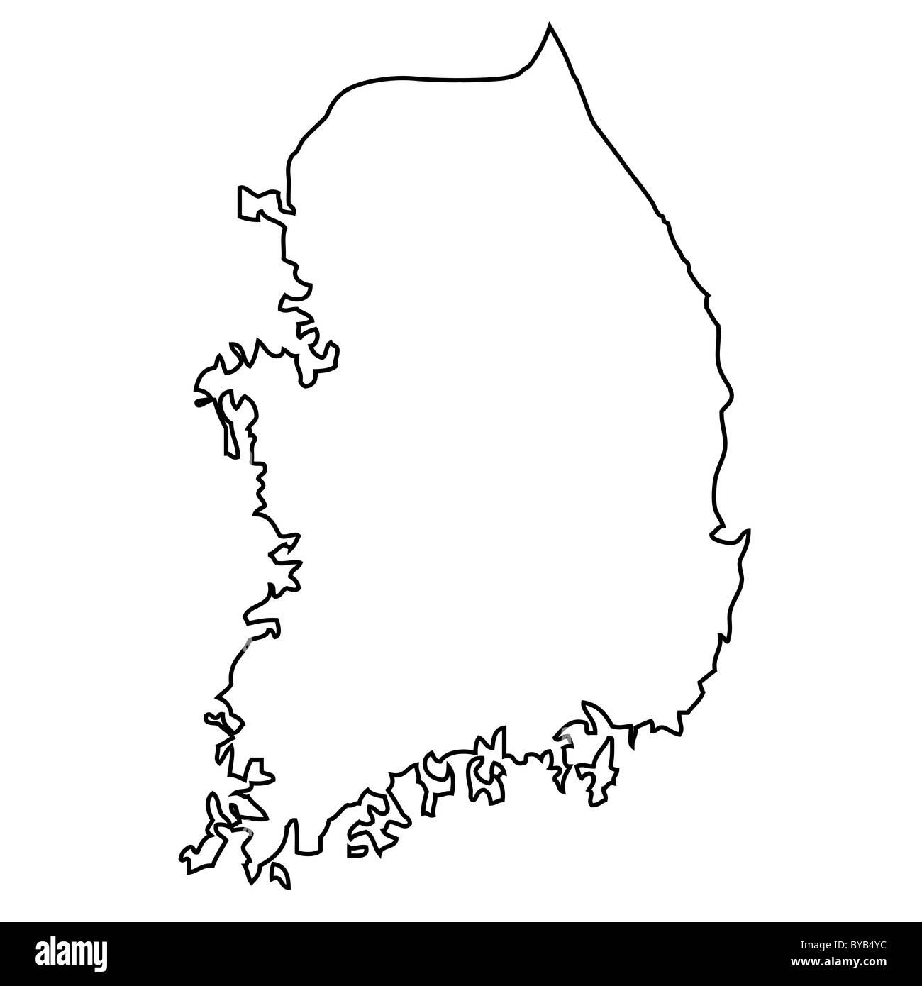 Outline Map Of South Korea Stock Photo Royalty Free Image - south map outline