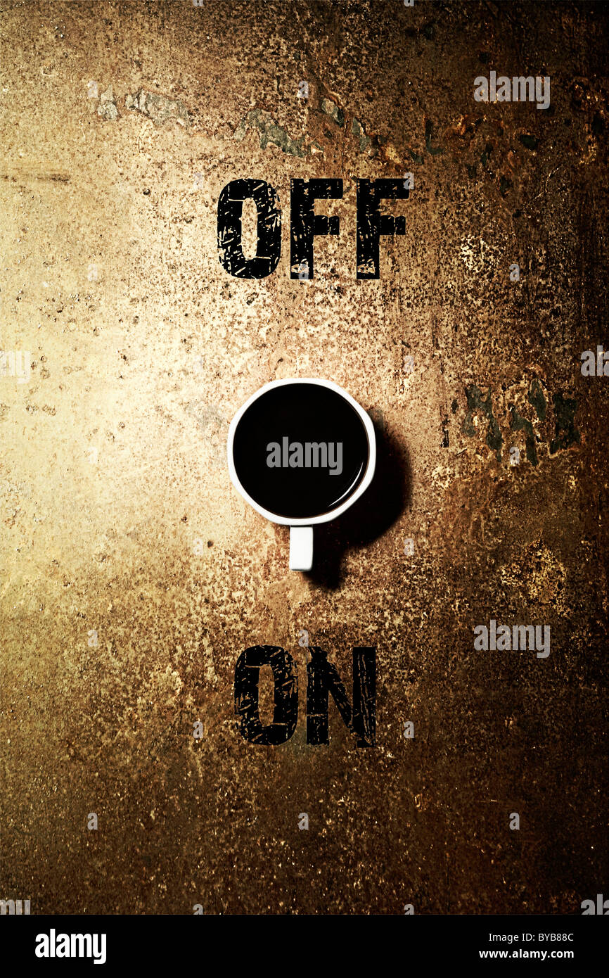Coffee mug as an on off switch labelled off and on conceptual coffee mug as an on off switch labelled off and on conceptual biocorpaavc Choice Image