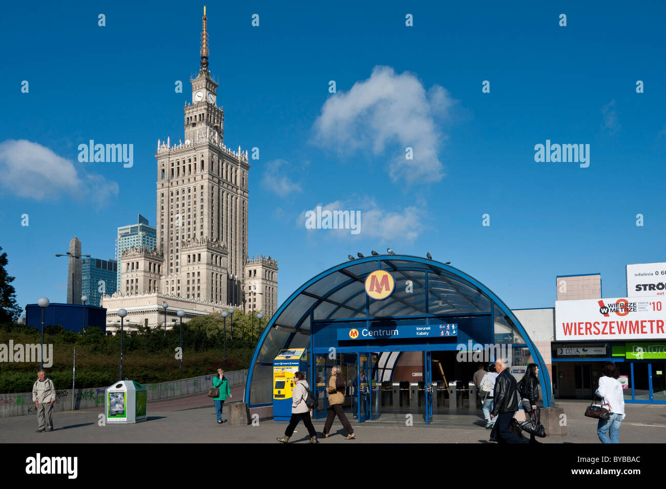 Palace Of Culture And Science High Rise Building In A Wedding Cake Style Landmark Warsaw Mazowieckie Poland Europe