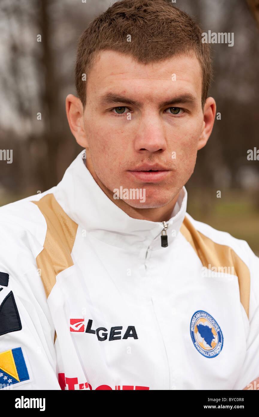 Edin Dzeko the Bosnian striker who signed for Manchester City