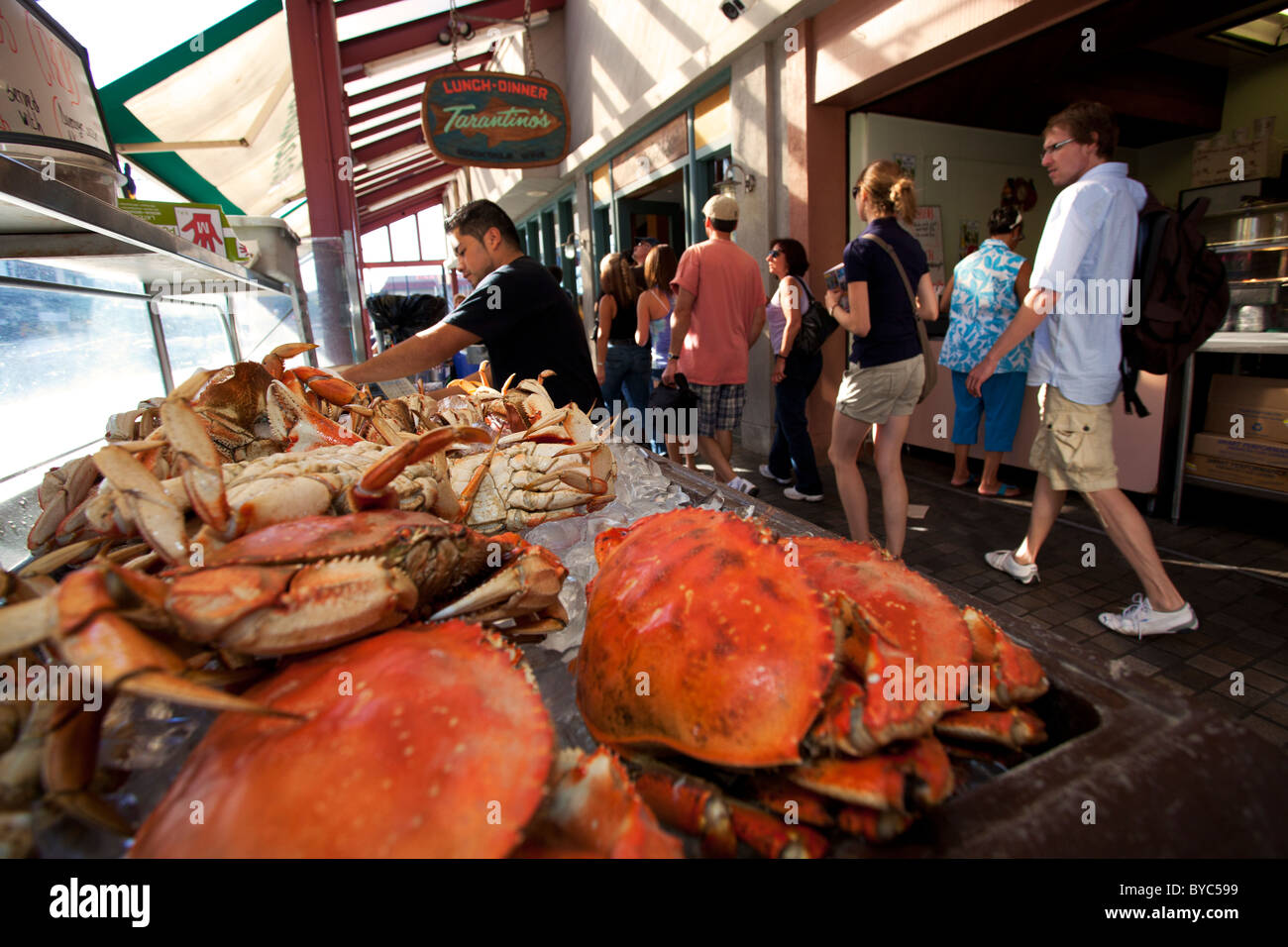 fish market at fisherman 39 s wharf san francisco ca stock