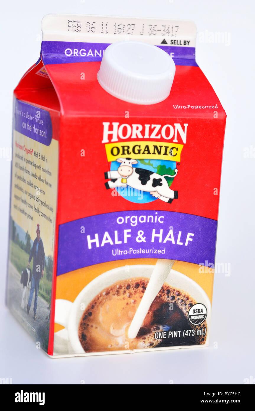 Horizon organic half and half cream Stock Photo: 34073912 ...