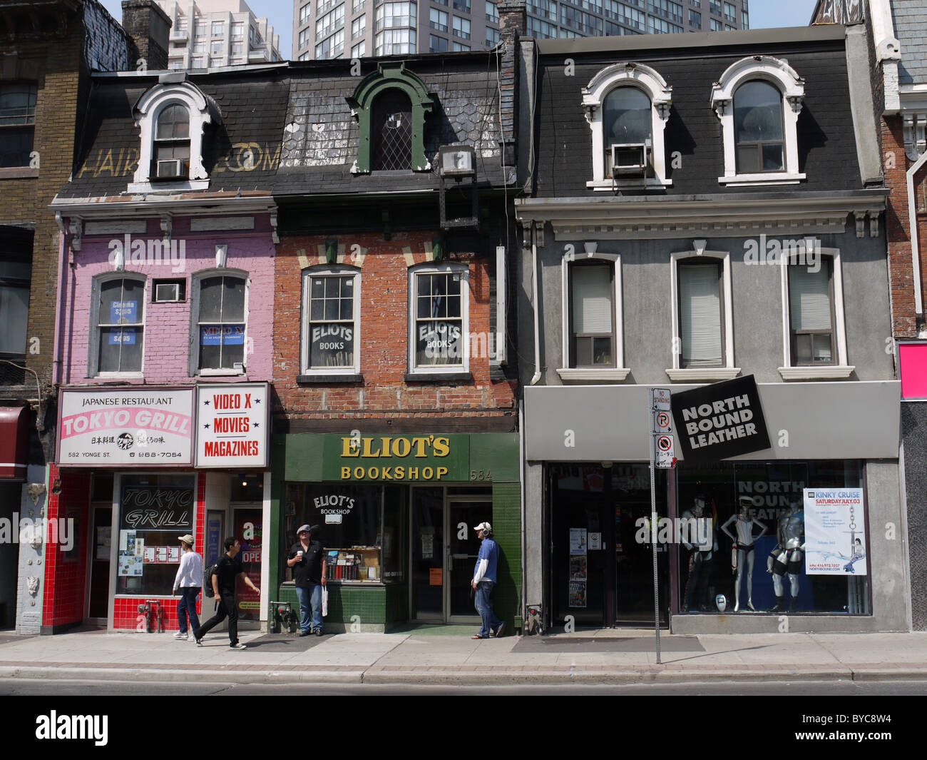 Toronto, old Victorian storefronts on Yonge Street Stock