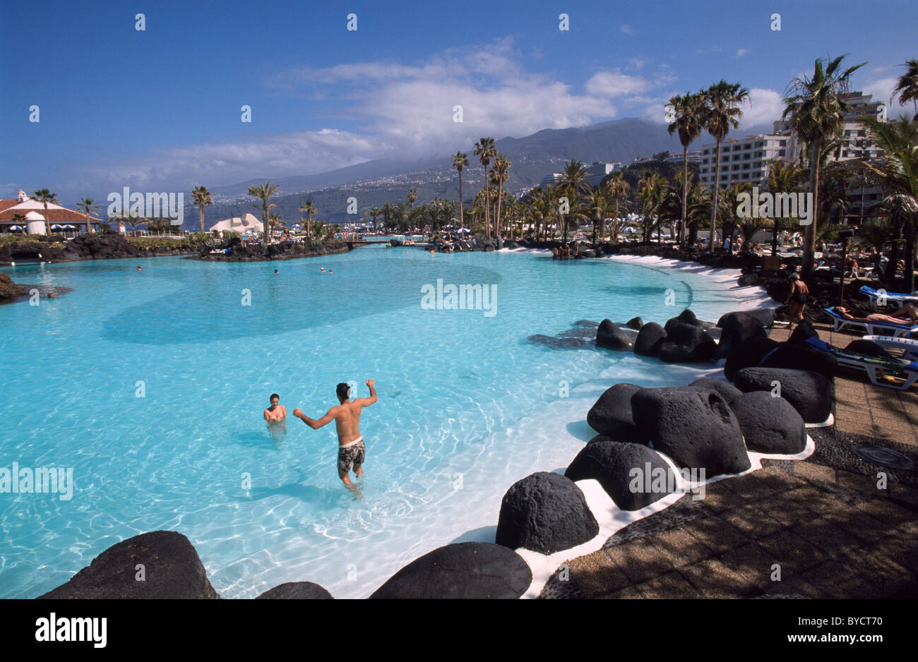Pool Costa de Martianez in Puerto de la Cruz, built by Cesar Stock Photo, Roy...