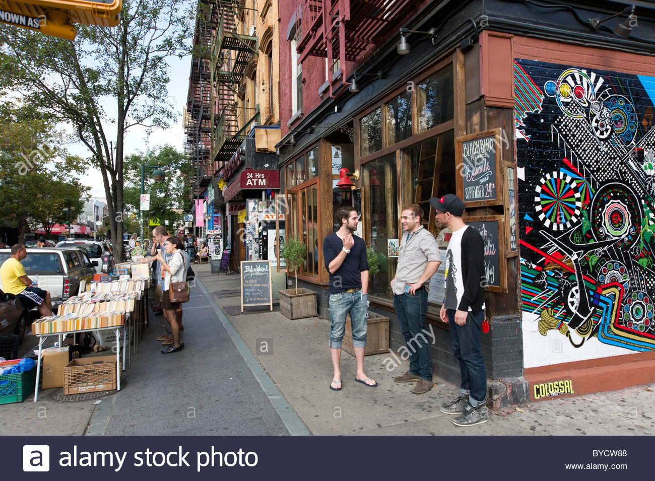 trendy young people on bedford avenue in williamsburg. Black Bedroom Furniture Sets. Home Design Ideas