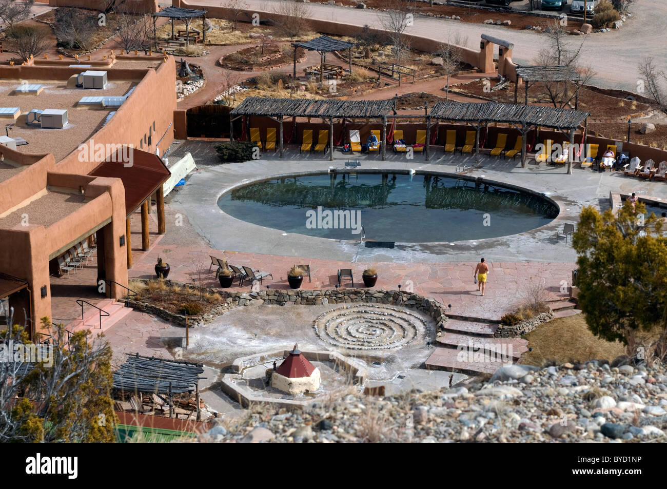 Ojo Caliente Hot springs New Mexico Stock Photo, Royalty