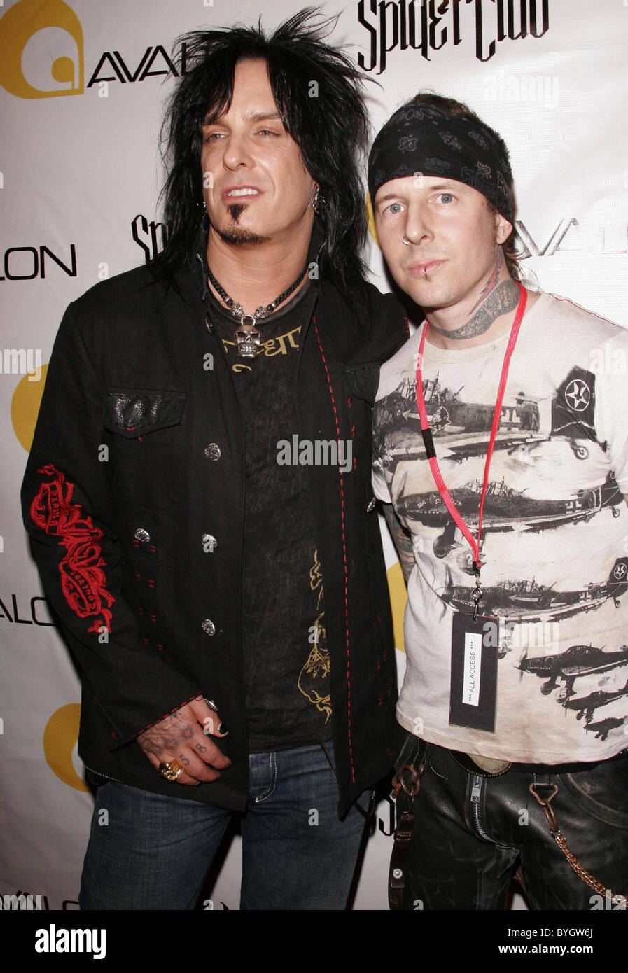 Nikki Sixx And Todd Waters Junker Designs Fall 2007 Fashion Show Stock Photo Royalty Free Image
