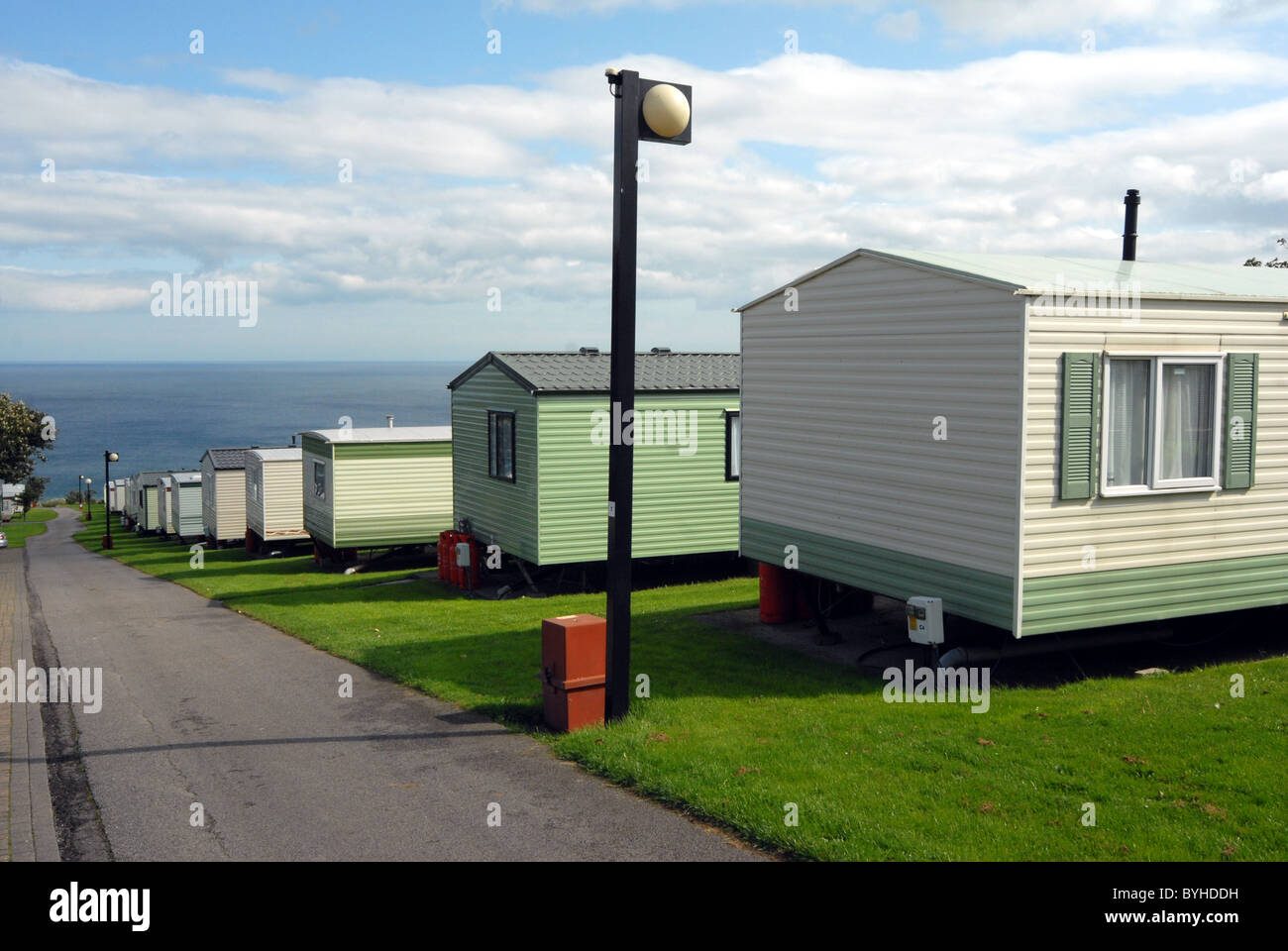 A Trailer Park Near The Sea In England UK