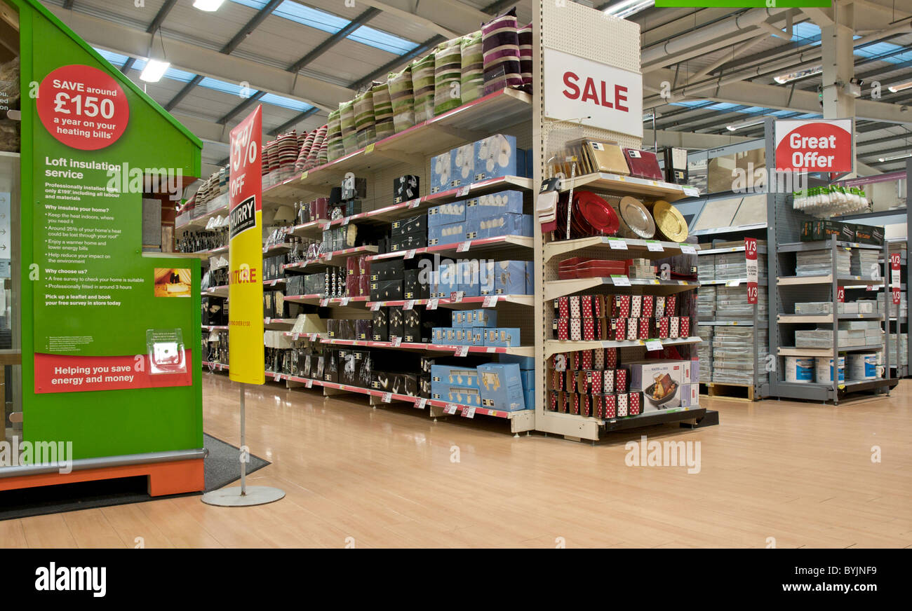 Delightful Interior Of Large Store Showing The Wide Range Of Merchandise Available.  This Is A DIY Store