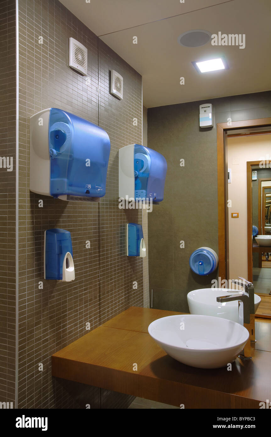 Interior of an empty modern toilet, simple furniture design Stock ...