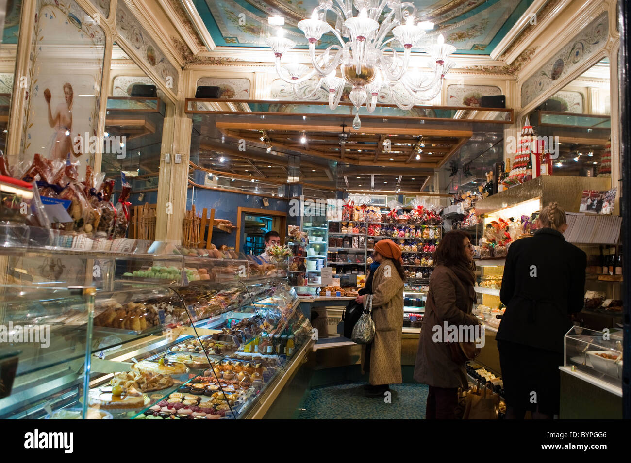 Paris france people inside french bakery shop french for Inside in french