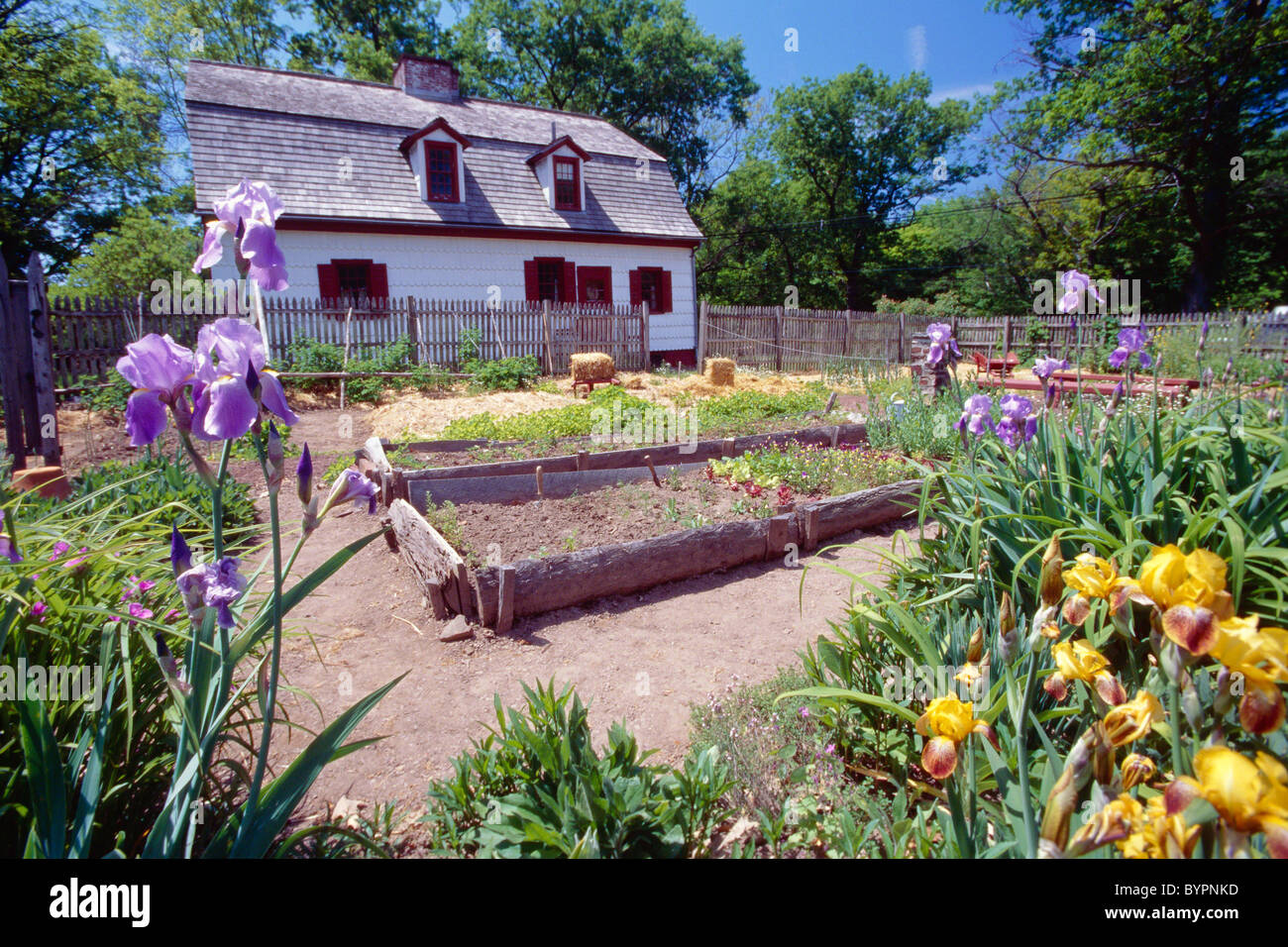 Colonial Garden Of The Johnson Ferry House, Washington Crossing State Park,  Titusville, New Jersey