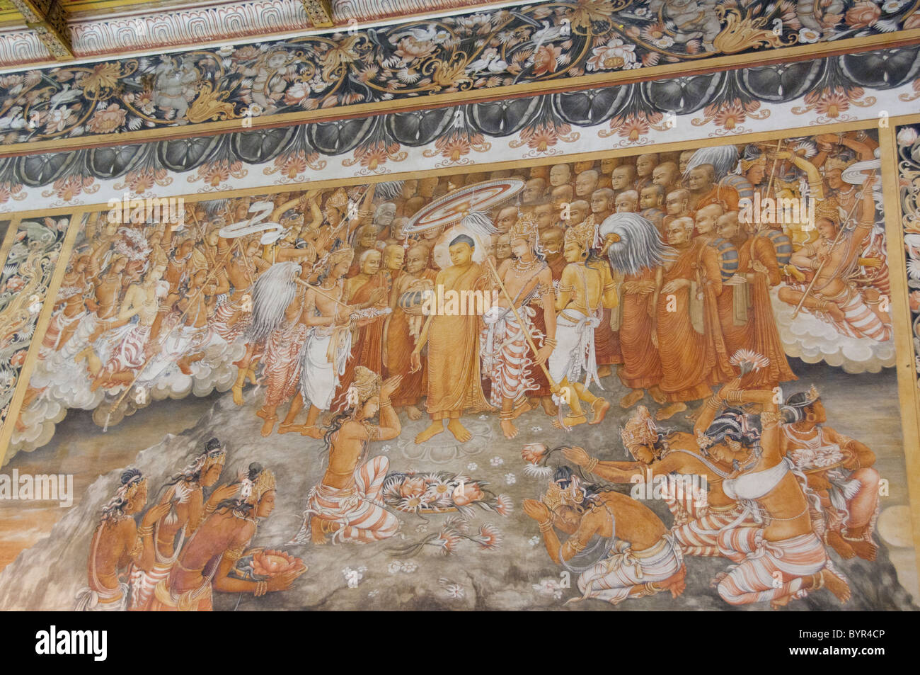 sri lanka colombo kelaniya temple important buddhist religious sri lanka colombo kelaniya temple important buddhist religious center temple interior historic hand painted wall mural