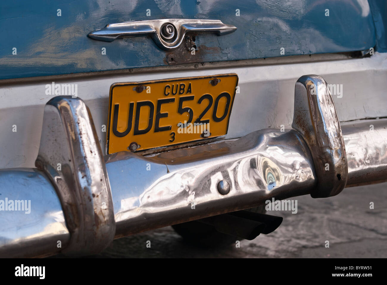 Old car plate on the streets of Santiago de Cuba, Cuba, Caribbean ...