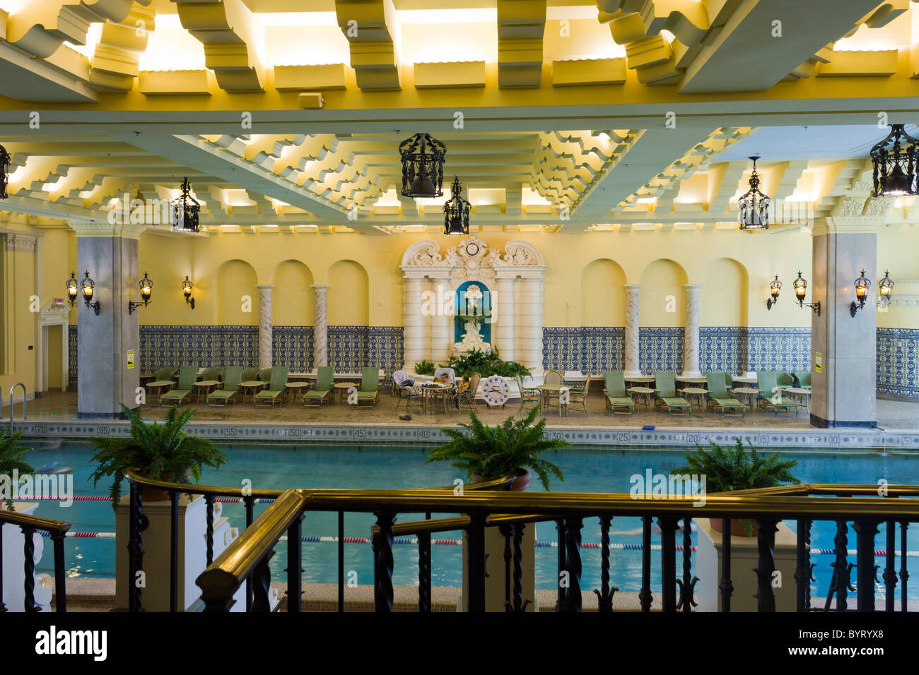 Swimming Pool Medinah Athletic Club Now The Hotel Intercontinental Stock Photo Royalty Free