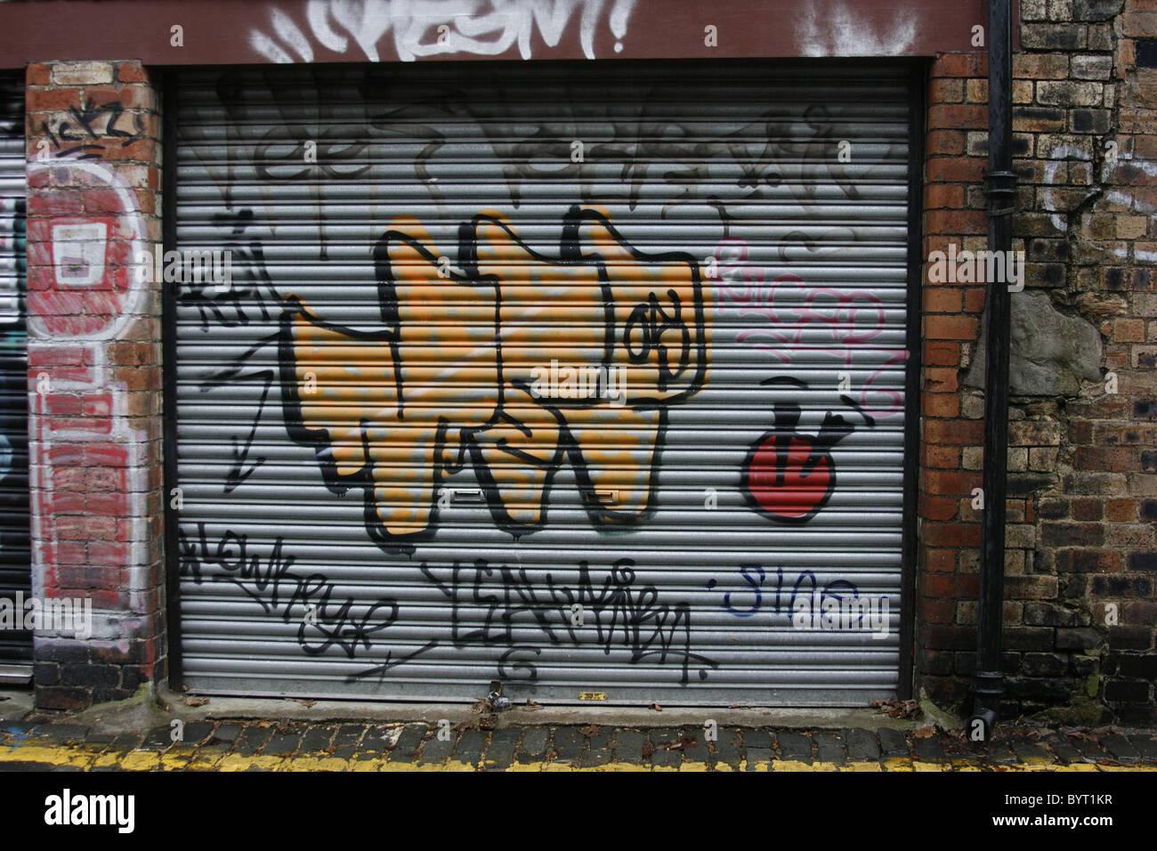 Graffiti On Garage Door Stock Photo Royalty Free Image