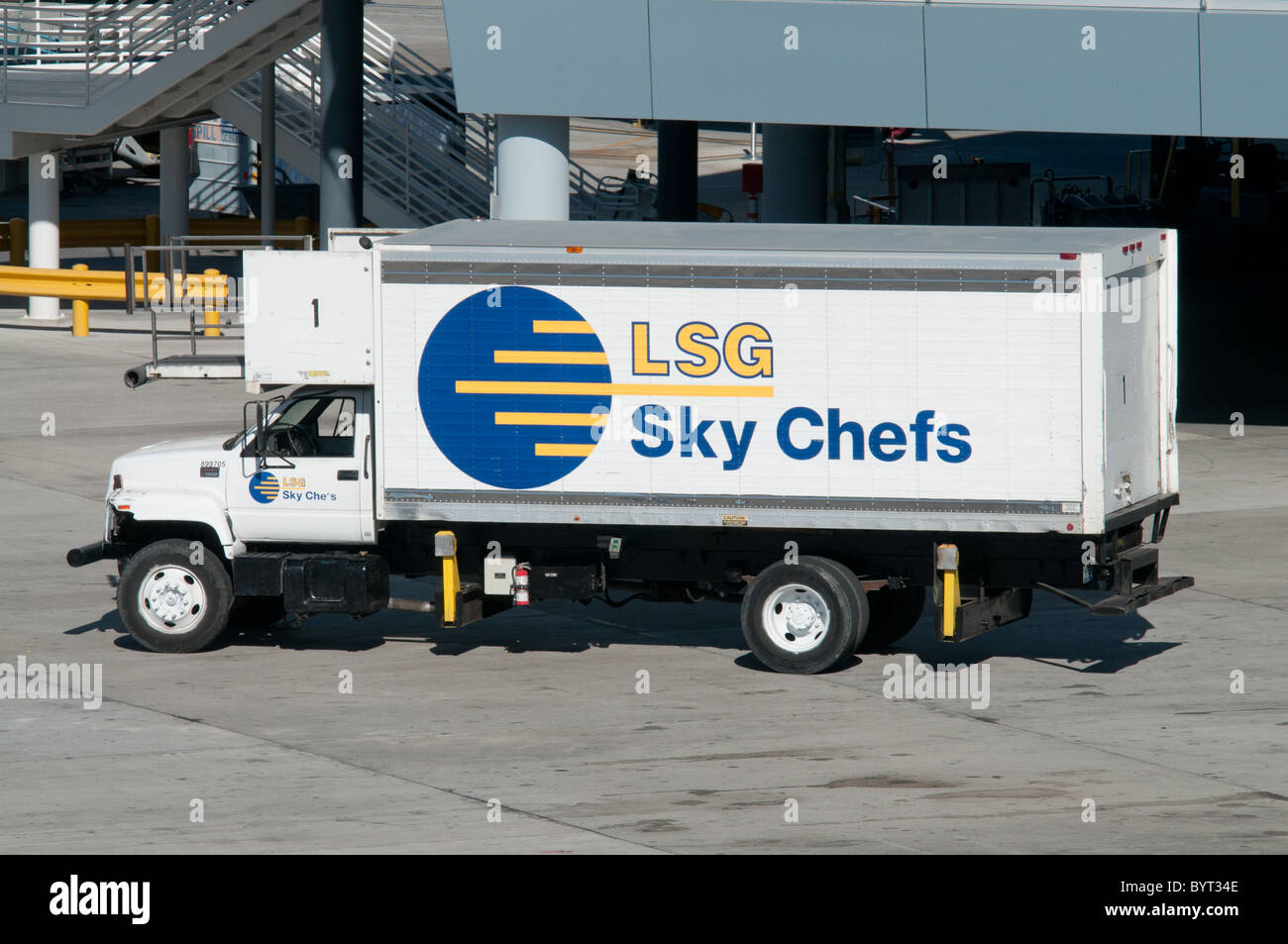 Thomson Inflight Meals >> LSG Sky Chefs airline catering truck airside at McCarran Stock Photo, Royalty Free Image ...