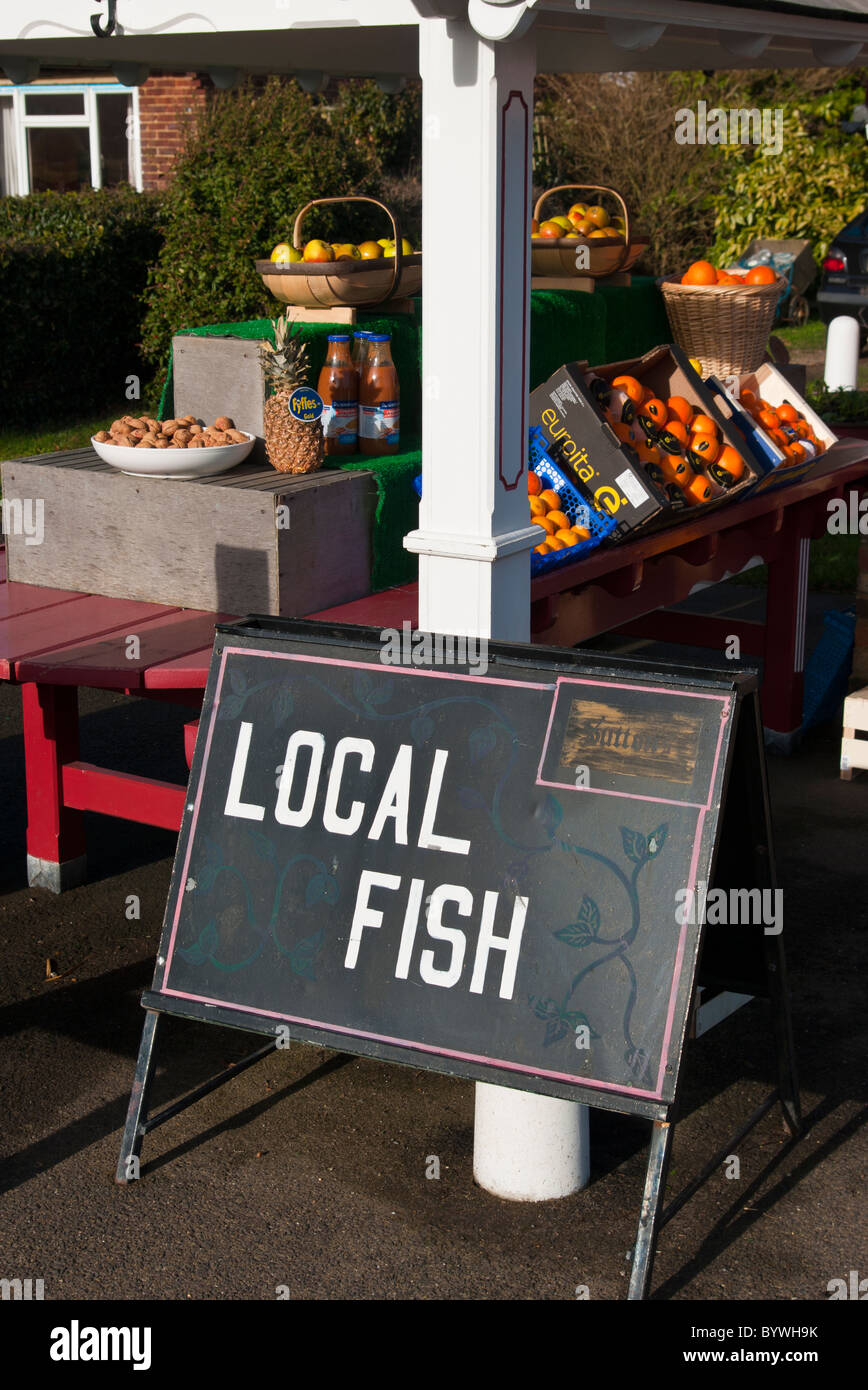 Local fish sign outside a shop stock photo royalty free for Local fish store