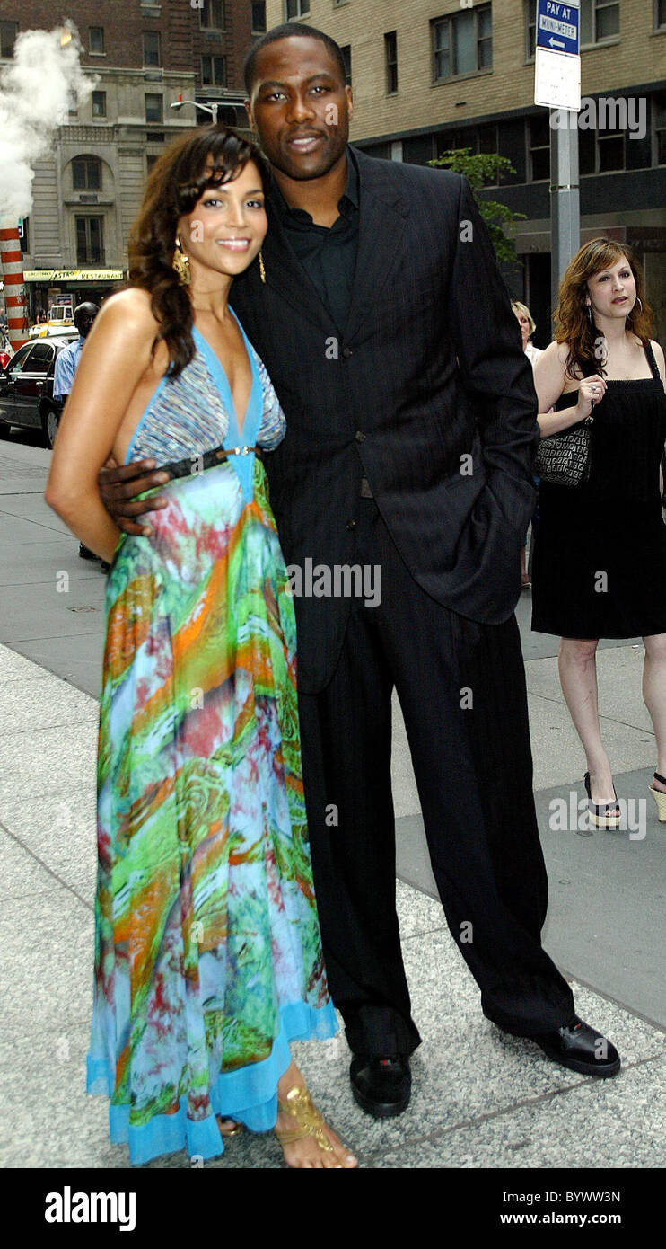 Elton Brand and his wife Shahara Brand New York Premiere of