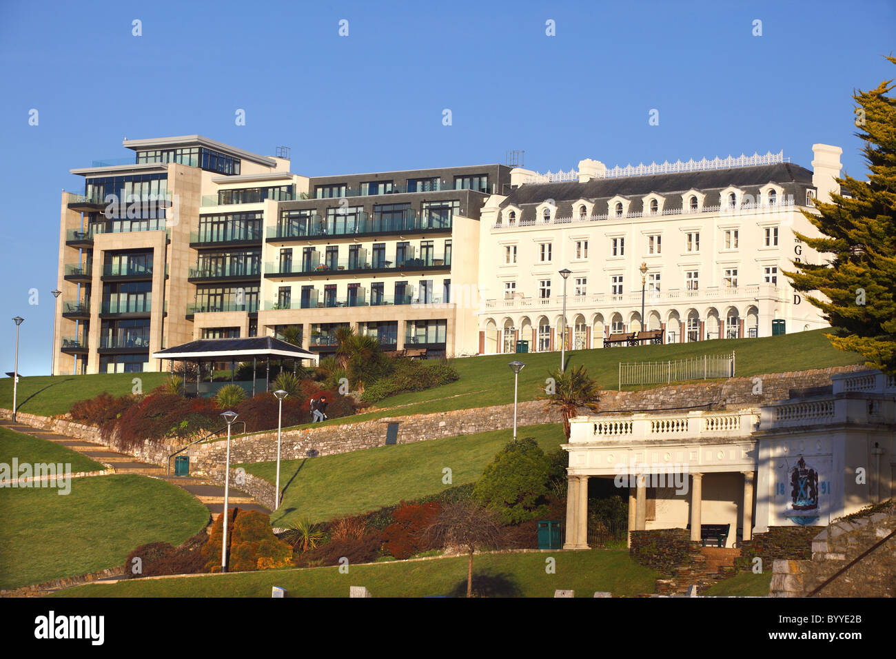 Luxury Apartments Next To The Grand Hotel (right) On Plymouth Hoe In Devon  UK