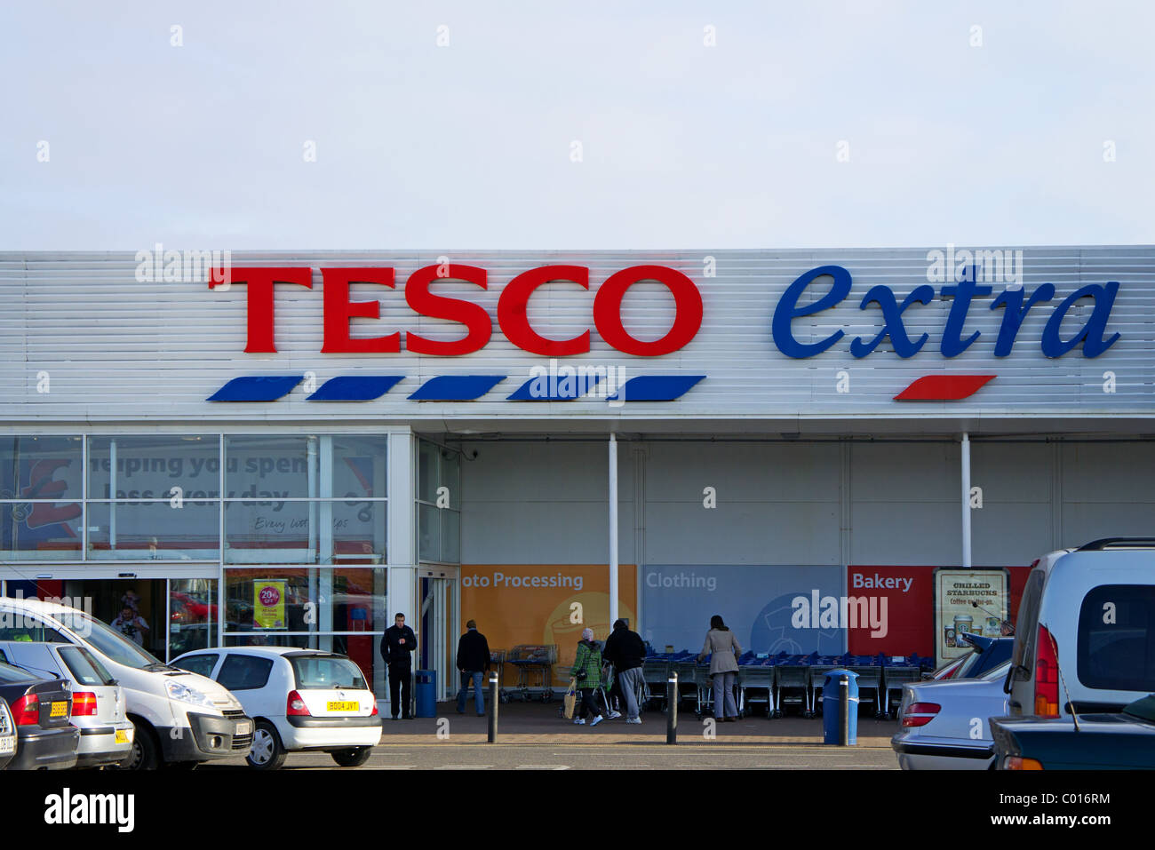 the entrance to tesco extra store in cornwall uk stock photo royalty free image 34448056 alamy. Black Bedroom Furniture Sets. Home Design Ideas