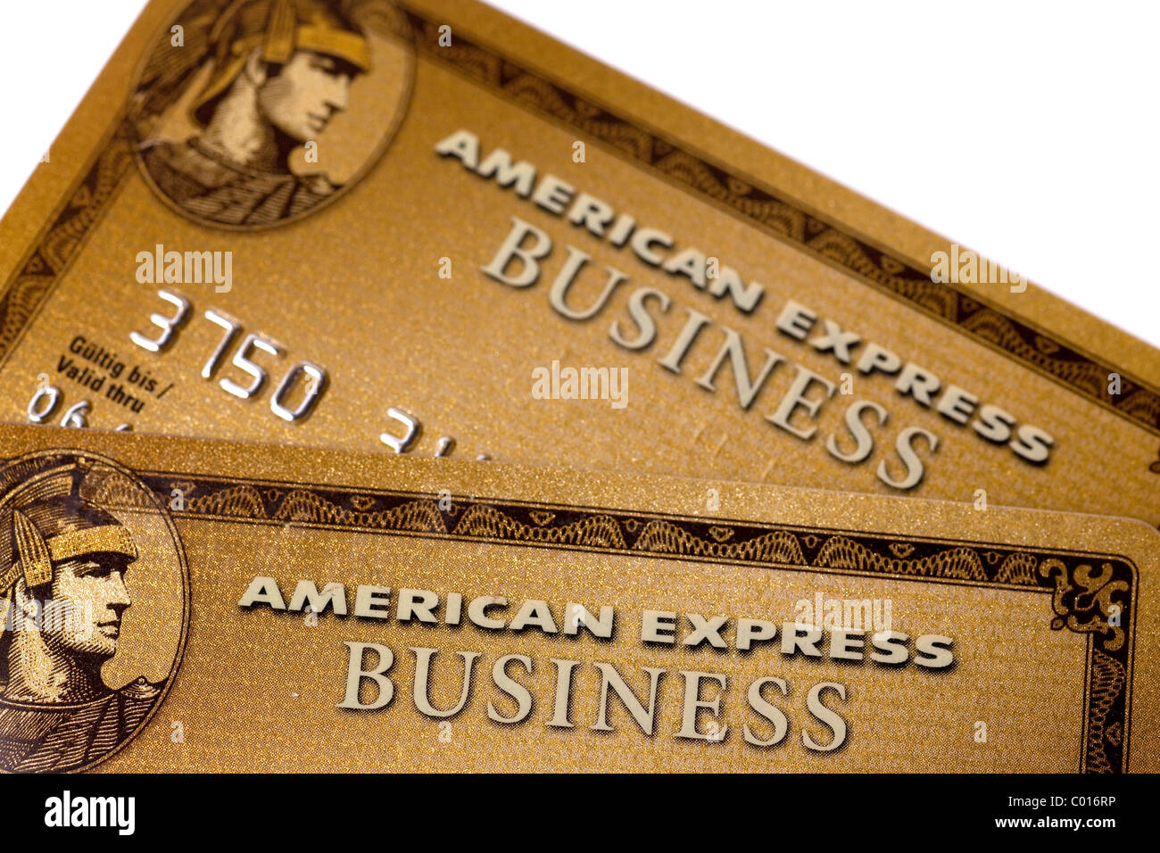 Credit cards, American Express, Amex, Gold Business Card Stock ...