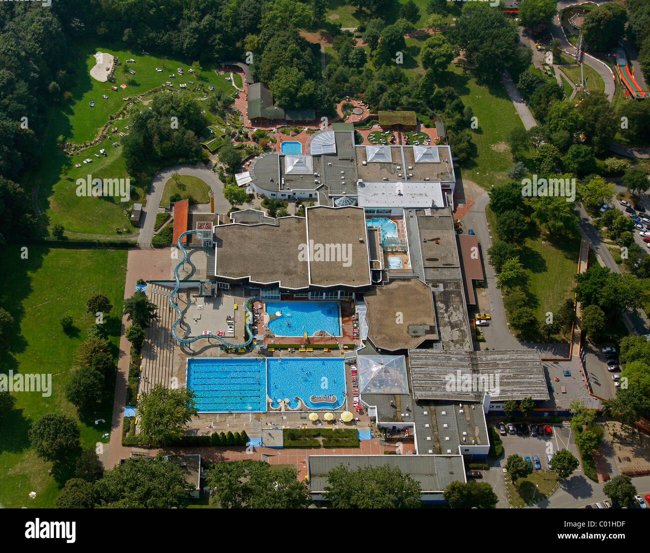 Aerial view open air swimming pool lago herne - An open air swimming pool crossword clue ...
