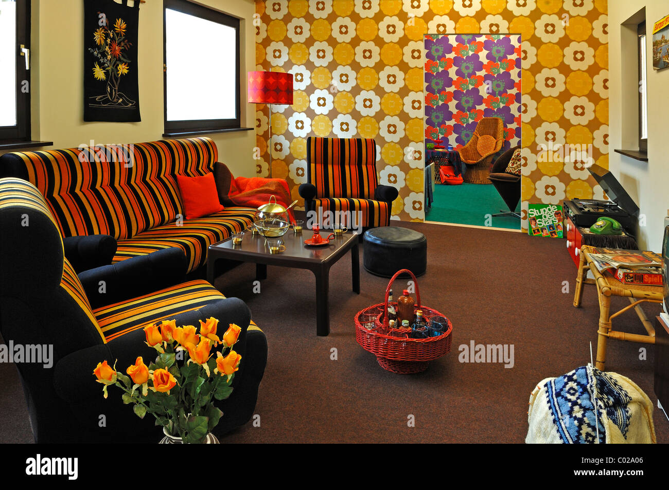 70s living room leading to a teenager 39 s room at a special for 70 er jahre couch