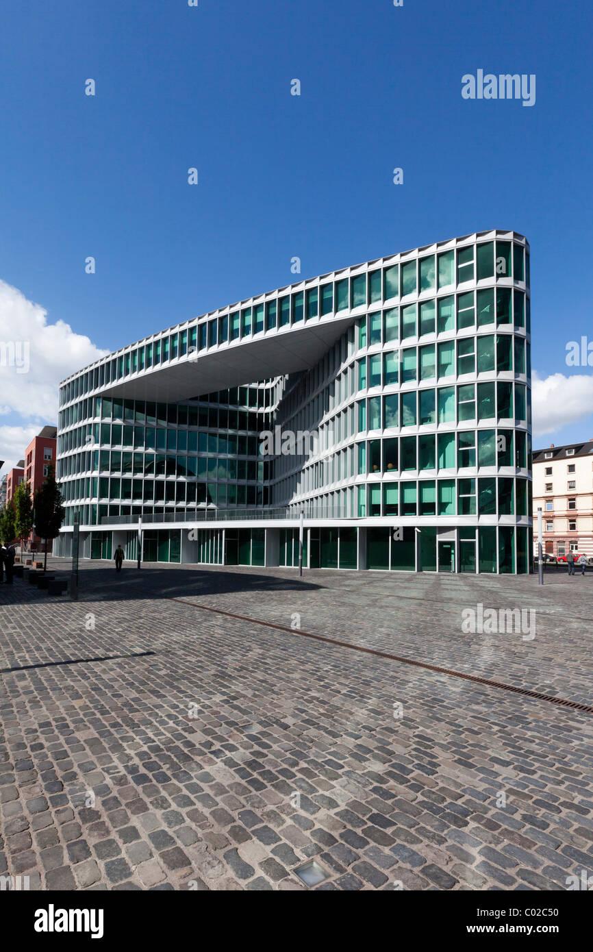 Schneider Schumacher office buildings beside westhafen tower designed by the architects