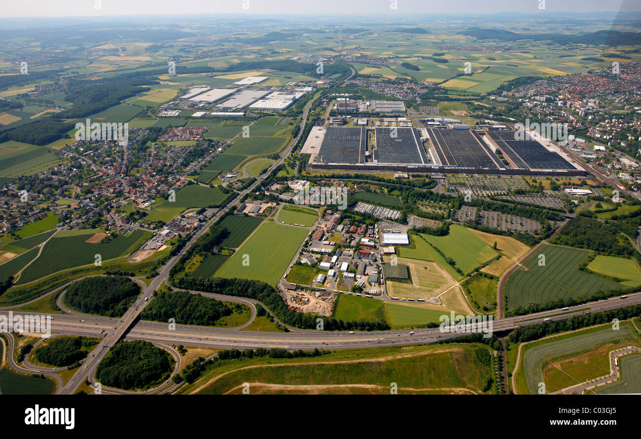 aerial view volkswagen group factory kassel hesse germany europe stock photo royalty free. Black Bedroom Furniture Sets. Home Design Ideas