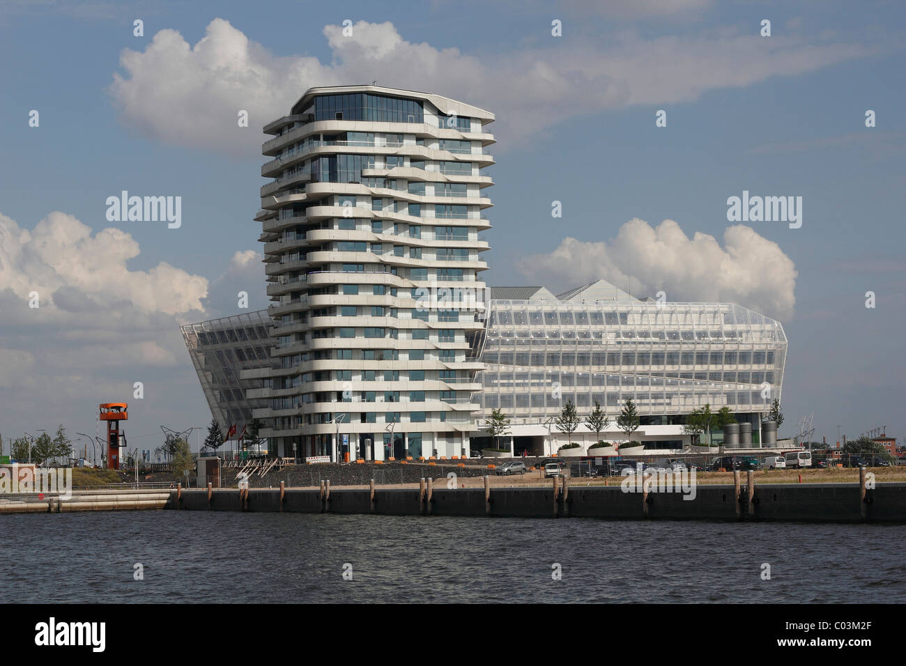 Marco-Polo-Tower, Hafencity district, Hamburg, Germany, Europe ...