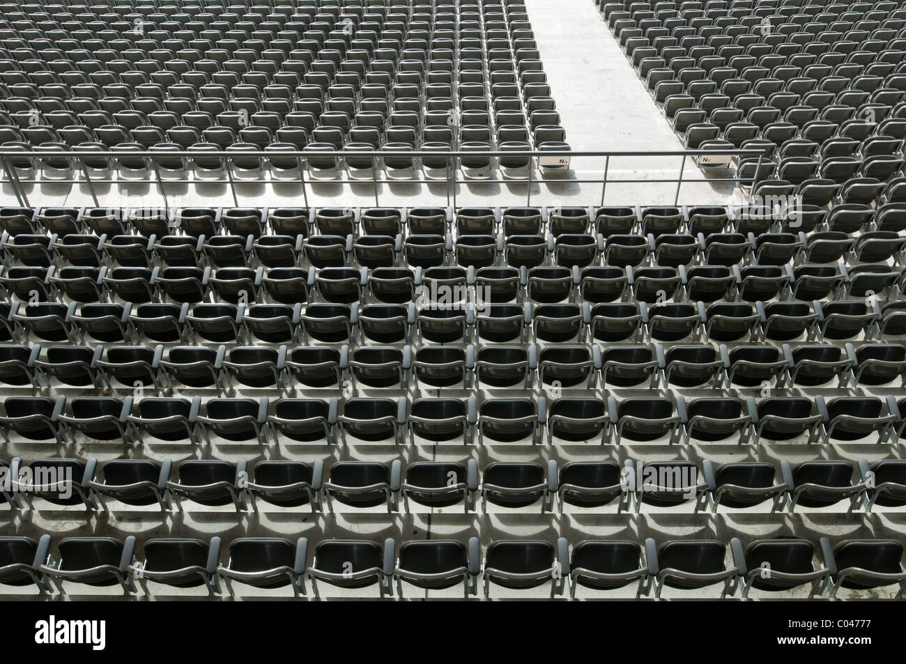 rows of empty stadium seats olympic stadium berlin germany stock photo royalty free image. Black Bedroom Furniture Sets. Home Design Ideas