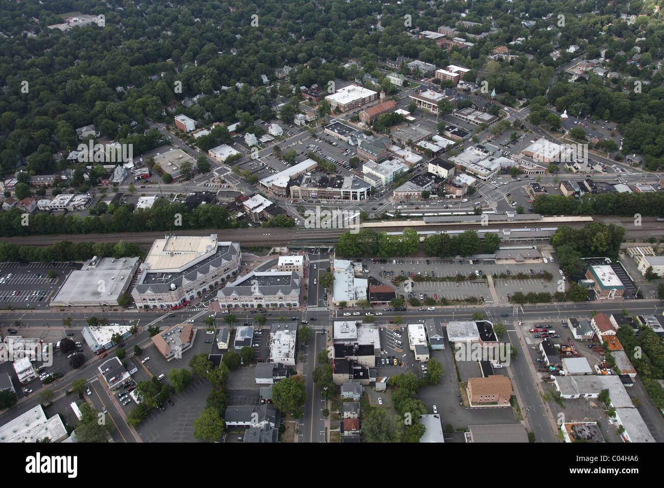 New jersey union county cranford - Aerial View Of Cranford New Jersey Union County Usa America
