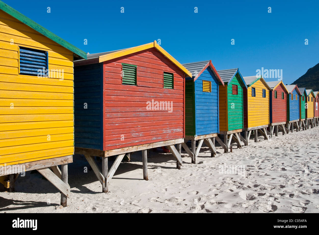 Beach huts victorian style changing room in muizenberg for Beach hut style