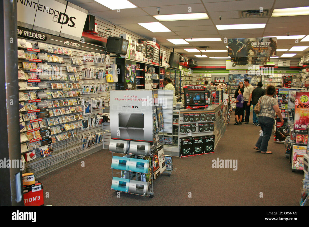 Inside of a gamestop computer video game store united states february 2011