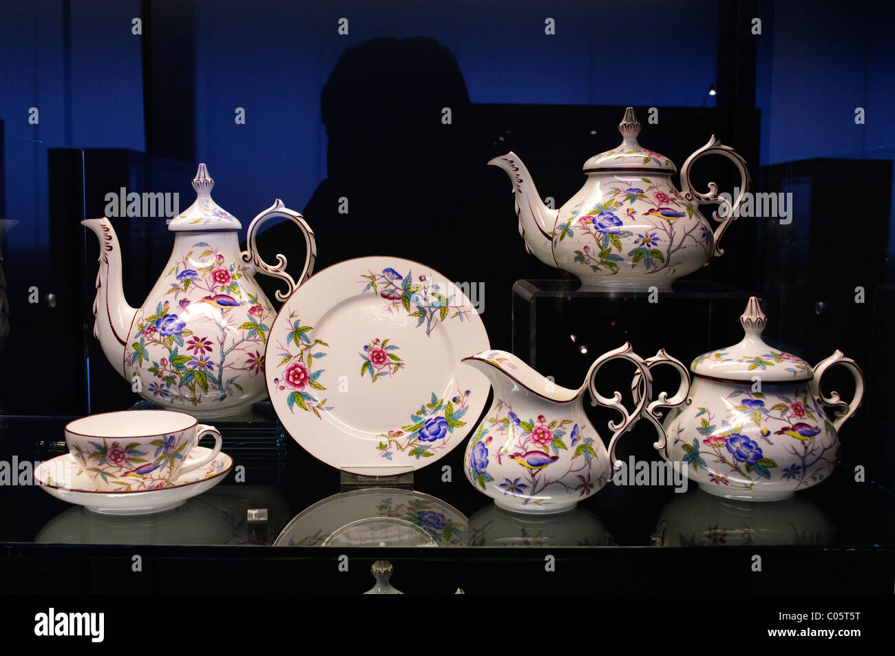 villeroy boch bone china tea service dating from the 1850 1865 stock photo royalty free image. Black Bedroom Furniture Sets. Home Design Ideas