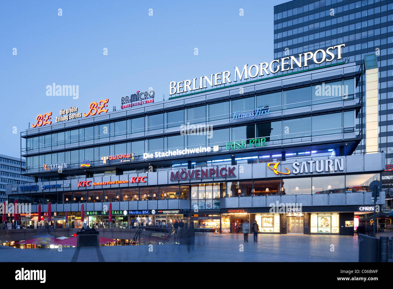 europa center shopping mall charlottenburg district berlin stock photo 34561787 alamy. Black Bedroom Furniture Sets. Home Design Ideas