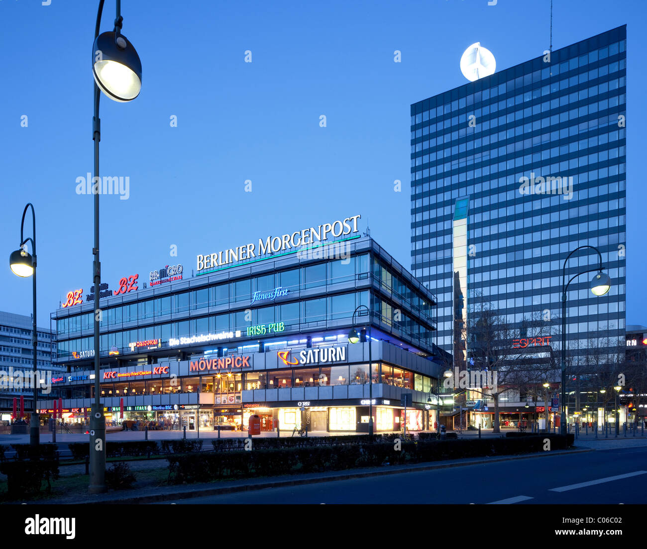 europa center shopping mall charlottenburg district berlin stock photo 34561858 alamy. Black Bedroom Furniture Sets. Home Design Ideas