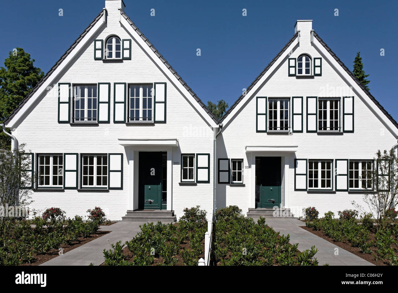 Image gallery identical houses for Side by side homes
