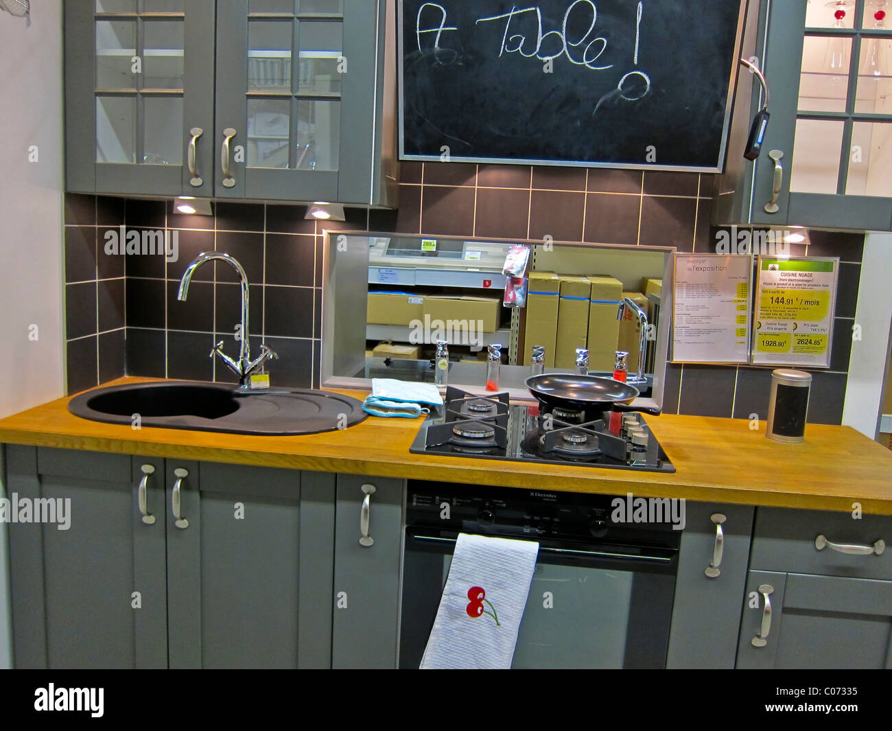 Paris France Modern Kitchen Design Shops Inside Displays Leroy Merlin Store